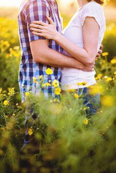 Engagement Photos with Wildflowers // Santa Barbara, CA // CeJae Photography