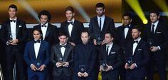 'Dream team' da Fifa tem laterais brasileiros e supremacia espanhola | Como não poderia ser diferente, os jogadores espanhóis foram maioria na lista da seleção do mundo da Fifa, escolhida após a votação de 50 mil futebolistas de toda a Terra. Do Brasil, restaram Marcelo, do Real Madrid, pela esquerda, e Daniel Alves, do Barcelona, pela direita. http://mmanchete.blogspot.com.br/2013/01/dream-team-da-fifa-tem-laterais.html#.UOtF9G-CmSo