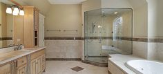 You can order replacement glass for your shower door on our website. You give us the measurements and pick the options, we cut the glass and ship it to you. Visit Dulles Glass and Mirror online today. Corner Shower Doors, Corner Shower Enclosures, Frameless Shower Enclosures, Frameless Shower Doors, Glass Shower Doors, Bathtub With Glass Door, Bathtub Doors, Bathroom Tile Designs, Bathroom Layout
