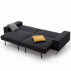This wide sofa bed will sit at least 4 comfortably. This spacious sofa bed is sure to give you convenience and style all at once! Open it as a long sofa, lounger or a spacious bed.