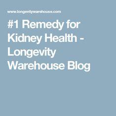 #1 Remedy for Kidney Health - Longevity Warehouse Blog