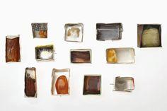 Heidemarie Herb, brooches, 925 Ag, copper,raw amber - 2014