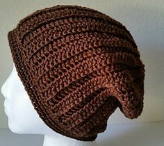 The Ridgley Slouch - free crochet hat pattern by Acquanetta Ferguson / San Diego Crochet Examiner. Unisex, aran weight. http://www.examiner.com/article/free-crochet-pattern-the-ridgley-slouch