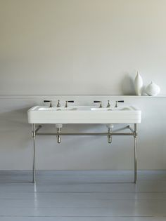 The Water monopoly - Antique Deco double basin on frame / £4850.00 +VAT  http://www.thewatermonopoly.com/double-basins/antique-deco-double-basin-on-frame