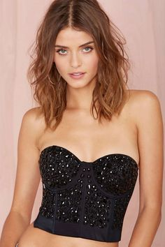 WYLDR Material Girl Bustier   Shop You, Me and the Moon at Nasty Gal
