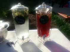 Rosemary water and Hibiscus water are perfect outdoor wedding refreshments. Rosemary Water, Mexican Cocktails, Pint Glass, Hibiscus, Alcoholic Drinks, Tableware, Wedding, Outdoor, Valentines Day Weddings