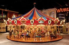 1998 46-foot Custom Carousel with 42 Animals 2 Chariots and Wurlitzer organ - Milhous Brothers Museum, Boca Raton, Florida