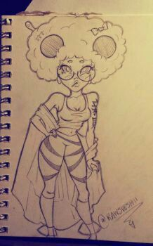 Pop, Afro, Geometric inspired girl by Christina Lorre Pretty Drawings, Cool Art Drawings, Pencil Art Drawings, Art And Illustration, Christina Lorre Drawings, Girl Drawing Sketches, Drawing Ideas, Drawings Of Black Girls, Cartoon Kunst
