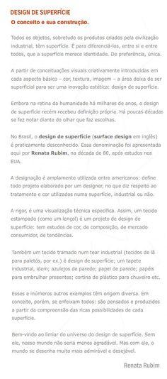 Design de superfície: o conceito e sua construção
