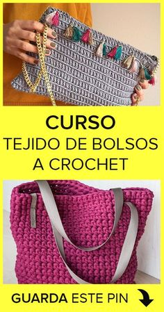 Curso de Tejido de Bolsos en Crochet Learn how to make your own crochet bag with this wonderful free course that we bring for you. With this crochet bag weaving training you will learn quickly and FREE. Crochet Tote, Crochet Bracelet, Crochet Stitches, Crochet Hooks, Crochet Baby, Crochet Patterns, Diy Crafts Crochet, Easy Crochet, Crochet Shoulder Bags