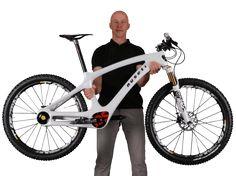 Rider Holding Mountain Bike Nuseti