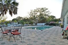 Edgemere Lane - really nice, but farther from beach (more bayside  than de mayo), and pool is on canal and not screened in, but have nice house and screened in porch and completely open availability, which is nice...