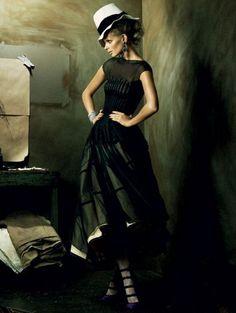 Julia Stegner by Alexi Lubomirski for Vogue Germany