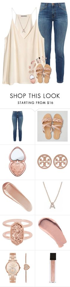"""and I had the best day, with you, today✨"" by pineapple5415 ❤ liked on Polyvore featuring Current/Elliott, H&M, American Eagle Outfitters, Too Faced Cosmetics, Tory Burch, NARS Cosmetics, Bony Levy, Kendra Scott, Burberry and Michael Kors"