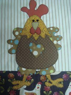 Pano De Prato colorido galinha