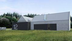 Projekt nowoczesnego domu, Architekt wnętrz Poznań – PL.architekci Black Barn, Modern Barn, Contemporary Design, Facade, Around The Worlds, Outdoor Structures, Traditional, Building, Places