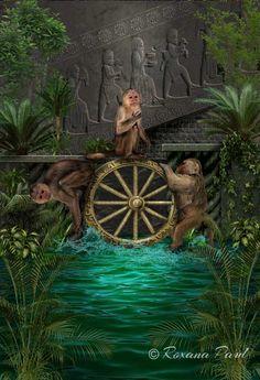 Roxana Paul is raising funds for New Babylonian Tarot Deck Cards on Kickstarter! An art-rich tarot deck bringing back Babylonian magical divination ways and rituals Tarot Card Decks, Tarot Cards, Tarot By Cecelia, Fortune Cards, Tarot Major Arcana, Wheel Of Fortune, Wiccan, Pagan, Deities