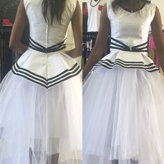 Xhosa vibes meet tutu skirt. Unfinished product. Xhosa Attire, African Attire, African Dress, African Women, African Fashion, African Style, Short Dresses, Formal Dresses, Wedding Outfits