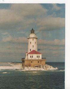 Lake Michigan Lighthouse Chicago Illinois