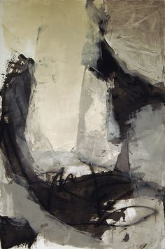 Karen L Darling | 'Fleeting Throughts' Oil, wax and charcoal on paper