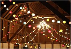 Let there be light. Cable and Cotton. Led Festoon Lighting, Hanging Ceiling Lights, Cool Lighting, Lighting Cable, Cable And Cotton Lights, Cotton Ball Lights, Wedding Reception Lighting, Wedding Reception Decorations, Led Fairy Lights