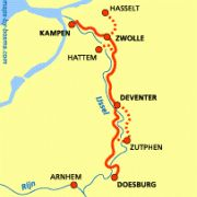 Hanzestedenpad: Kampen - Zwolle - Deventer - Zutphen - Doesburg http://wandelnet.nl/hanzestedenpad-sp-11