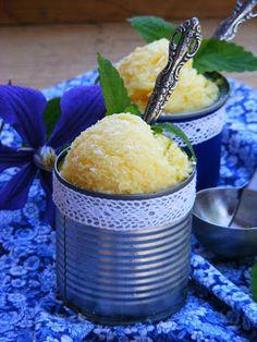 Makacska konyhája: Kókuszos, ananászos fagylalt Frozen Yogurt, Sorbet, Gelato, Sweet Tooth, Muffin, Ice Cream, Food, No Churn Ice Cream, Icecream Craft
