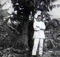 * Self-portrait of Arthur Rimbaud standing in front of a tree in Harar, c. Rimbaud produced his works while still in his late teens, and he gave up creative writing altogether before the age of Writers And Poets, World Of Books, Portraits, Playwright, Book Authors, Love Book, Creative Writing, Pin Up, Fiction