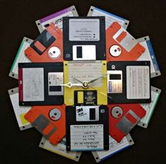 Oh yeah, wonder if we have enough around the house for this floppy disk clock.
