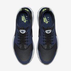 los angeles 308e7 dd441 Chaussure Nike Air Huarache Pas Cher Femme et Homme Ultra Bleu Nuit Marine  Noir Platine Pur