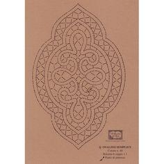 Disegno Ovalino n. 125 - Il Giardino dei Punti, Circolo di ricami, pizzi e decori