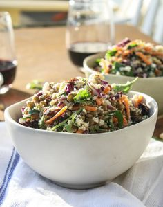 Cauliflower Couscous with Green Lentils and Turmeric-Tahini Dressing
