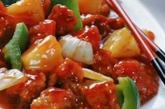 Jamaican Sweet & Sour Chicken Recipe, Jamaican cuisine includes a mixture of cooking techniques, flavors, spices, sweet and sour chicken recipes healthy . Stir Fry Recipes, Pork Recipes, Asian Recipes, Cooking Recipes, Healthy Recipes, Chicken Recipes, Easy Recipes, Healthy Food, Recipies