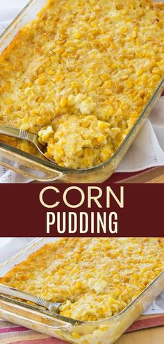 Corn Pudding (Easy Side Dish Recipe) – Cupcakes & Kale Chips Corn Pudding – an easy family favorite side dish recipe that's been loved for years. You have to add this to your menu! It's also gluten free. Easter Side Dishes, Side Dishes Easy, Side Dish Recipes, Dinner Recipes, Easy Corn Pudding, Corn Pudding Recipes, Easy Corn Casserole, Gluten Free Casserole, Corn Pudding Casserole