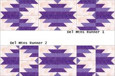 delectable mountains | Scrapbox Quilts: February is Delectable Mountains Month- Table Runners