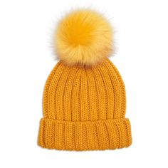 Forever 21 Ribbed Pom Pom Beanie  Mustard (405 RUB) ❤ liked on Polyvore featuring accessories, hats, mustard, foldable hat, ribbed pom pom beanie, fold beanie, forever 21 hats and mustard yellow beanie