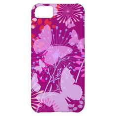 Spring Butterfly Garden Vibrant Purple Pink Girly iPhone 5C Case
