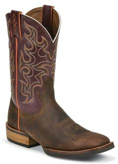 Mens Justin Copper Kettle Cow Square Toe Cowboy Boot | AA Callisters