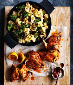 Roast chilli chicken with cauliflower and rice : : Australian Gourmet Traveller