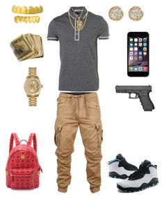"""((Studio Time)) ~Dre Savage"" by leonar-287 ❤ liked on Polyvore featuring G-Star Raw, Topman, NIKE, Rolex, Jamie Wolf, MCM, men's fashion and menswear"