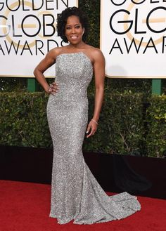 Regina King arrives at the 74th annual Golden Globe Awards at the Beverly Hilton Hotel on Sunday, Jan. 8, 2017.