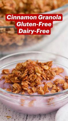 Dairy Free Appetizers, Dairy Free Snacks, Gluten Free Recipes For Breakfast, Gluten Free Breakfasts, Dairy Free Recipes, Snack Recipes, Gluten Free Granola, Gluten Free Diet, Quick Snacks