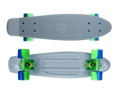"Zycle Fix Mayhem 22"" Penny Style Skateboard (Grey/Green)"