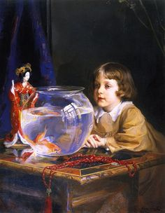 Philip Alexius de László, MVO (1869-1937) —  Portrait of John, the Artist's Fifth Son   (736×949)