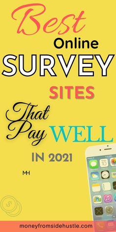 Best Paid Online Surveys, Best Online Survey Sites, Survey Websites, Survey Sites That Pay, Paid Surveys, Survey Money, Earn Extra Money Online, Easy Money Online, Online Jobs For Teens