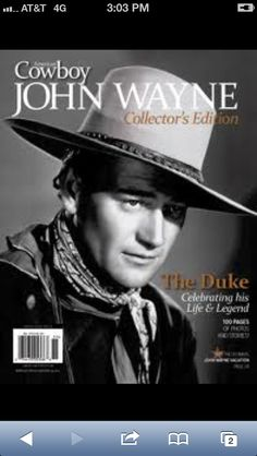 American Cowboy John Wayne Collectors Edition Includes  Pages Of Photos Stories