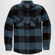 STRAIGHT FADED Jack Mens Flannel Shirt ($30) ❤ liked on Polyvore featuring men's fashion, men's clothing, men's shirts, men's casual shirts, blue, mens long sleeve shirts, mens flannel shirts, mens button front shirts and mens blue flannel shirt