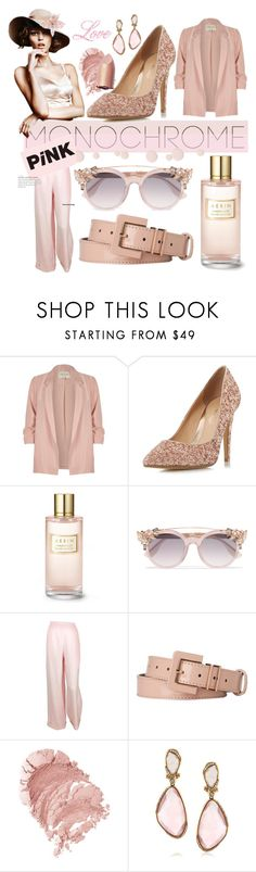 """Pink obsession"" by karnivalista ❤ liked on Polyvore featuring River Island, Head Over Heels by Dune, Estée Lauder, Jimmy Choo, Chanel, L.K.Bennett and Mark Broumand"