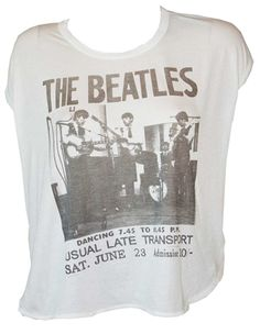Junk Food Clothing Tee Shirts from Old School Tees Beatles Poster, The Beatles, Junk Food Tees, Beatles Party, Junior Shirts, Rock Tees, Junk Food Clothing, Crop Tee, Shirts For Girls
