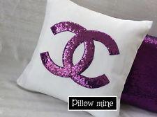 Designer Inspired Throw Pillow- Decor Pillow-Bling Pillow-Chanel